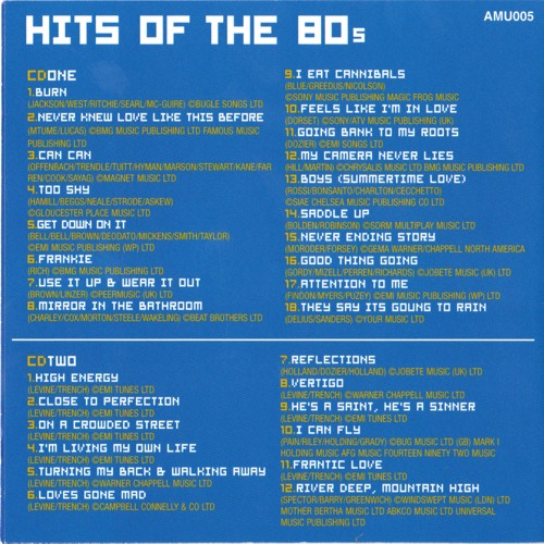 Hits of the 80s - 2CDs   Tools & Leisure